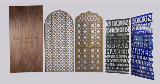 Decorative Wood Screens ~ Laser cutting engraving services cut decorative